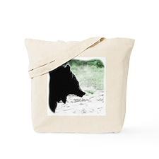 Bear Head Silhouette Tote Bag