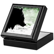 Bear Head Silhouette Keepsake Box