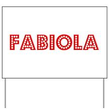 Retro Fabiola (Red) Yard Sign