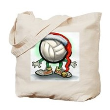 Unique Volleyball christmas Tote Bag