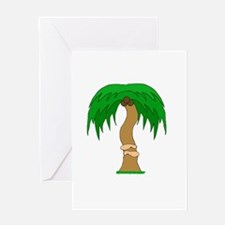 arms hugging coconut tree Greeting Card