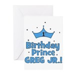 1st Birthday Prince Greg Jr.! Greeting Cards (Pk o