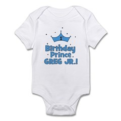 1st Birthday Prince Greg Jr.! Infant Bodysuit