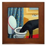 Black lab Framed Tiles