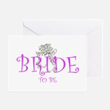 bride to be flwr Greeting Card