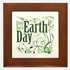 Every Day is Earth Day Framed Tile