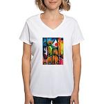 Master Spirits Artwork Women's V-Neck T-Shirt