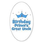 1st Birthday Prince's Great U Oval Sticker