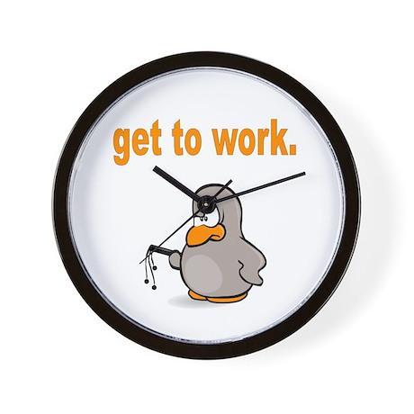 Get to Work Penguin Wall Clock