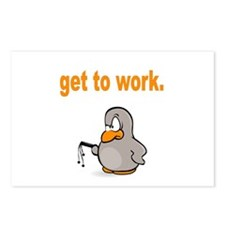 Get to Work Penguin Postcards (Package of 8)