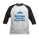 1st Birthday Prince's Big Bro Kids Baseball Jersey