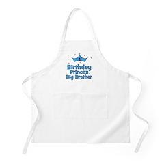 1st Birthday Prince's Big Bro BBQ Apron