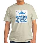 1st Birthday Prince's Big Bro Light T-Shirt