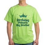 1st Birthday Prince's Big Bro Green T-Shirt