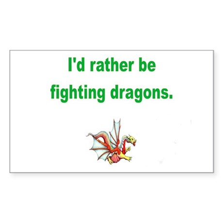 Fighting dragons Rectangle Sticker