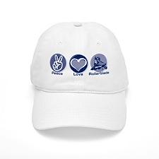 Peace Love Rollerblade Baseball Cap
