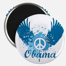 Obama Peace Symbol Magnet