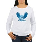 Obama Peace Symbol Women's Long Sleeve T-Shirt