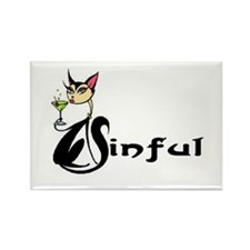 SINFUL (Kitty) Rectangle Magnet