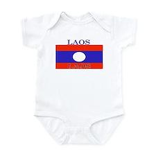 Laos Lao Flag Infant Creeper