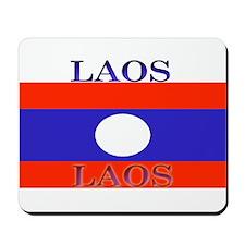 Laos Lao Flag Mousepad