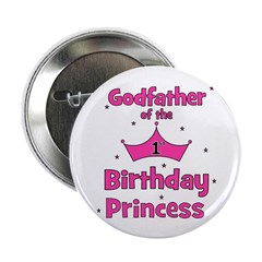 "Godfather of the 1st Birthday 2.25"" Button"