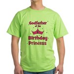 Godfather of the 1st Birthday Green T-Shirt