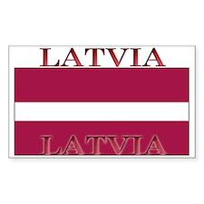 Latvia Latvian Flag Rectangle Decal