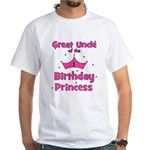 Great Uncle of the 1st Birthd White T-Shirt
