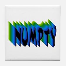 NUMPTY Tile Coaster