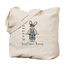 Country Sunflower Bunny Tote Bag