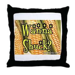 Wanna Shuck? Corn Throw Pillow