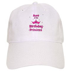 Aunt of the 1st Birthday Prin Baseball Cap