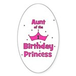 Aunt of the 1st Birthday Prin Oval Sticker