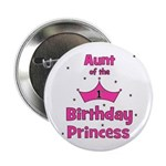 """Aunt of the 1st Birthday Prin 2.25"""" Button"""