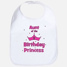Aunt of the 1st Birthday Prin Bib