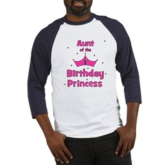 Aunt of the 1st Birthday Prin Baseball Jersey