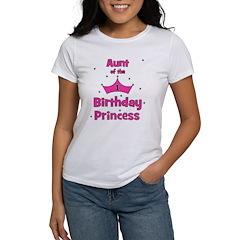 Aunt of the 1st Birthday Prin Women's T-Shirt