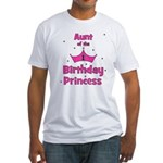 Aunt of the 1st Birthday Prin Fitted T-Shirt