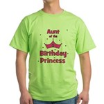 Aunt of the 1st Birthday Prin Green T-Shirt