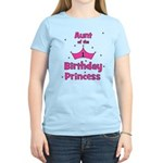 Aunt of the 1st Birthday Prin Women's Light T-Shir