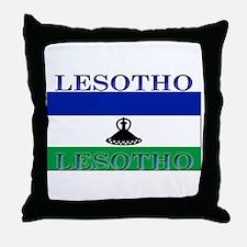 Lesotho Flag Throw Pillow