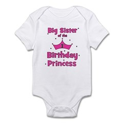 Big Sister of the 1st Birthda Infant Bodysuit