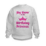 Big Sister of the 1st Birthda Kids Sweatshirt