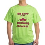 Big Sister of the 1st Birthda Green T-Shirt