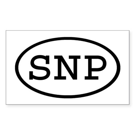 SNP Oval Rectangle Sticker