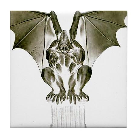 Stone Gargoyle Tile Coaster