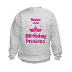Nana of the 1st Birthday Prin Kids Sweatshirt