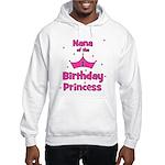 Nana of the 1st Birthday Prin Hooded Sweatshirt