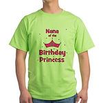 Nana of the 1st Birthday Prin Green T-Shirt